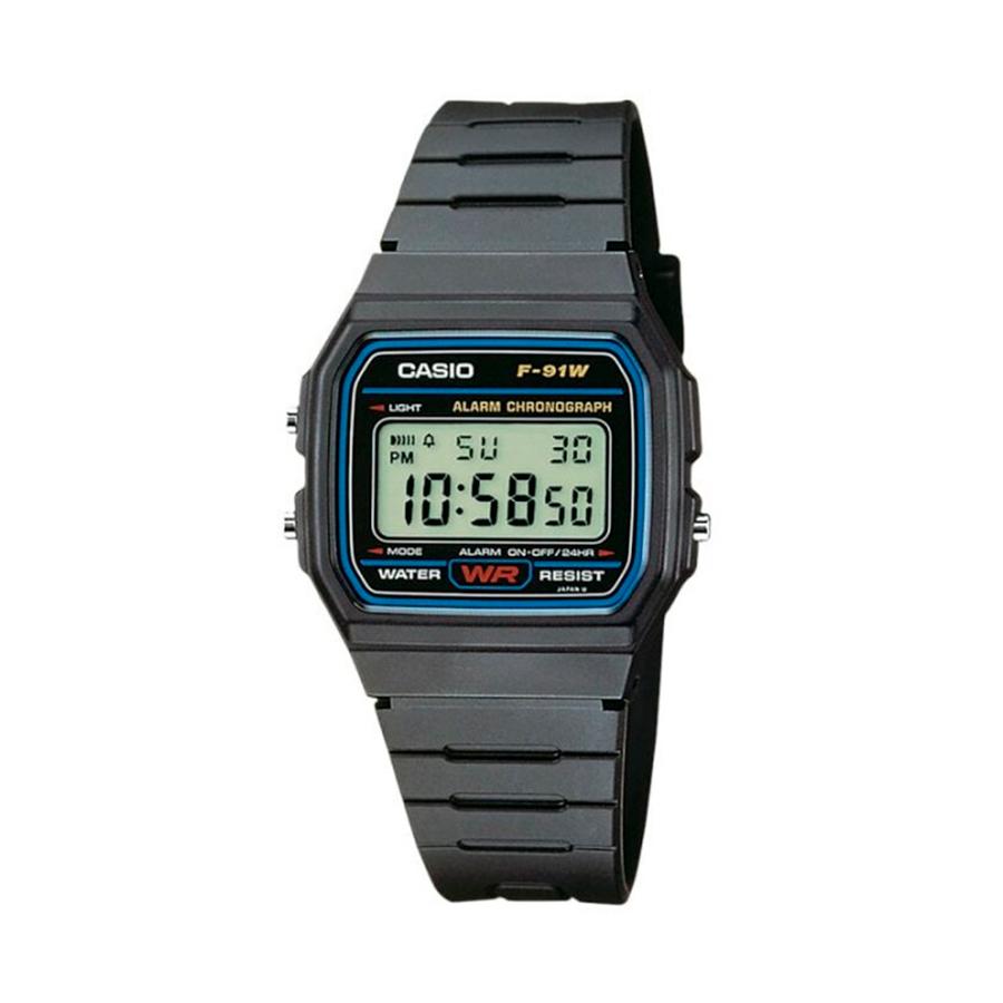 Reloj Casio COLLECTION Unisex F-91W-1YER digital cronografo