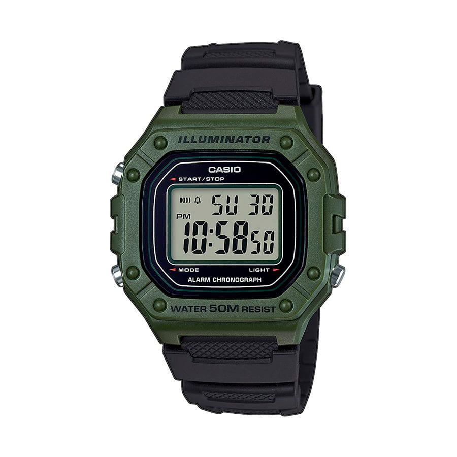 Reloj Casio COLLECTION Unisex W-218H-3AVEF digital cronografo