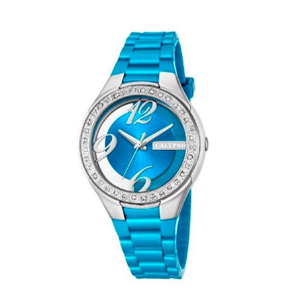 Reloj Calypso Analógico para mujer Mujer K5679-2 Correa azul claro