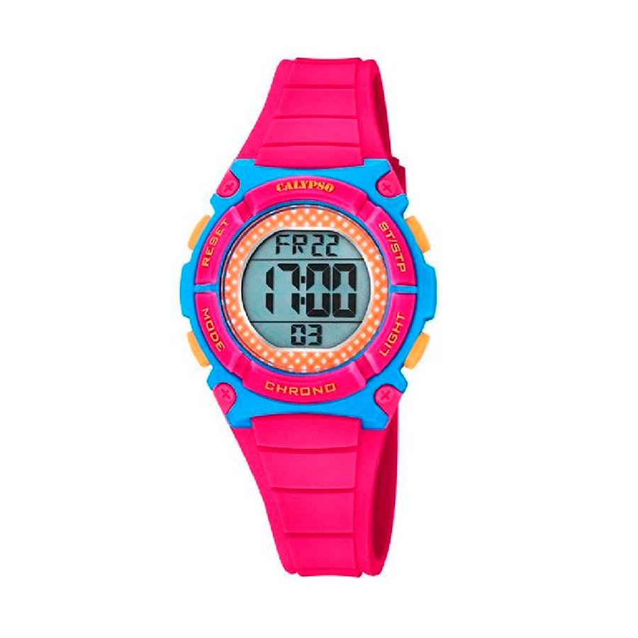 Reloj Calypso Crush Niña K5756-6 Digital correa rosa