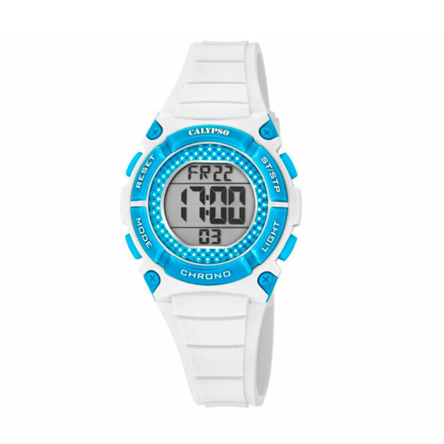 Reloj Calypso Crush Unisex K5756-1 Digital correa blanca