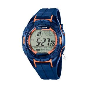 Reloj Calypso Digital for man Hombre K5627-9 Digital correa de silicona azul