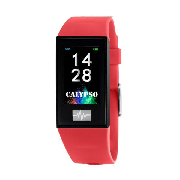 Reloj Calypso Smartime Unisex K8500-4 Pulsera de actividad correa roja