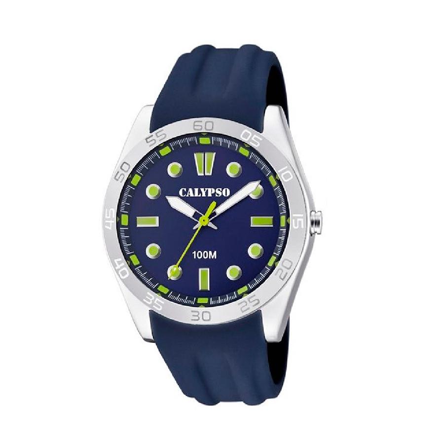 Reloj Calypso Street style Hombre K5763-6 Azul correa de silicona