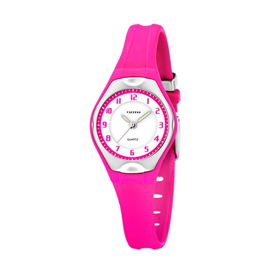 Reloj Calypso Sweet time Niña K5163-L Analógico correa silicona rosa