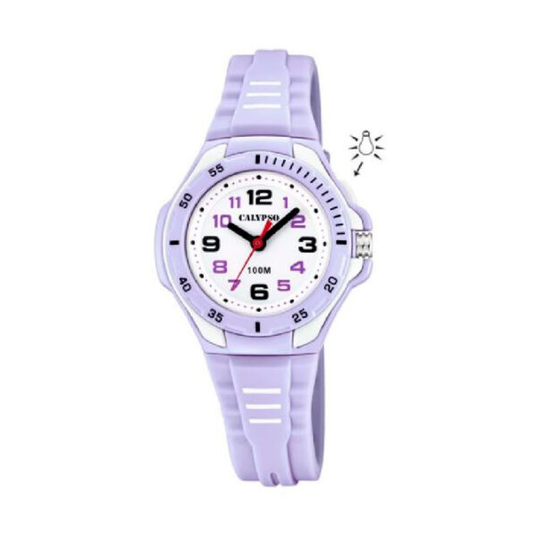 Reloj Calypso Sweet time Niña K5757-2 Analógico correa morada