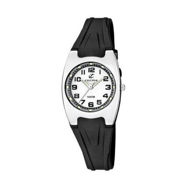 Reloj Calypso Sweet time Unisex K6042-F Analógico correa negra