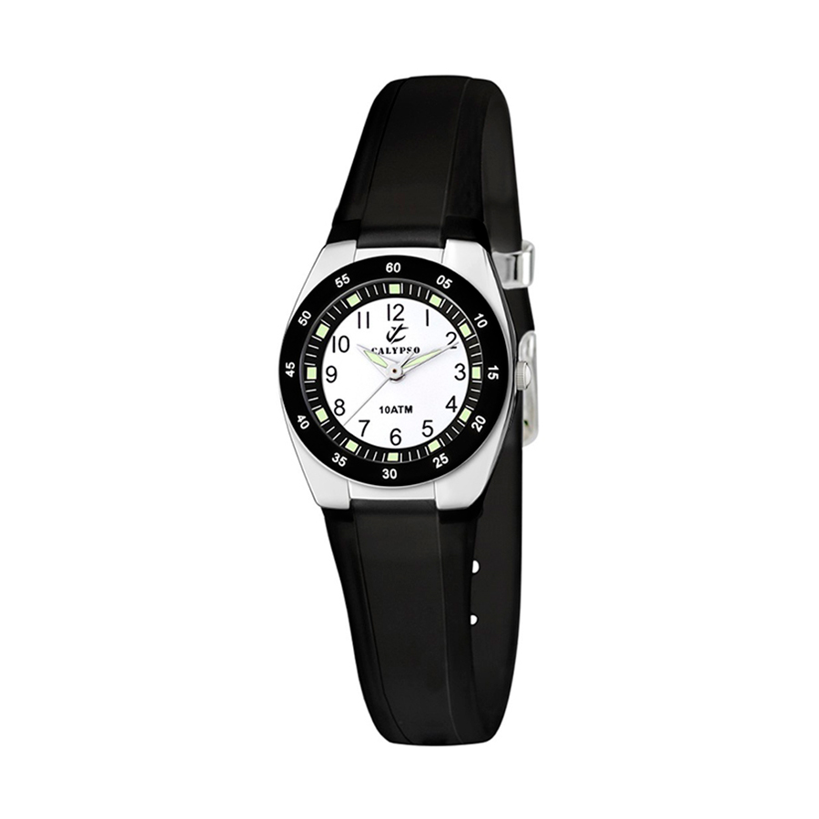 Reloj Calypso Sweet time Unisex K6043-F Analógico correa negra
