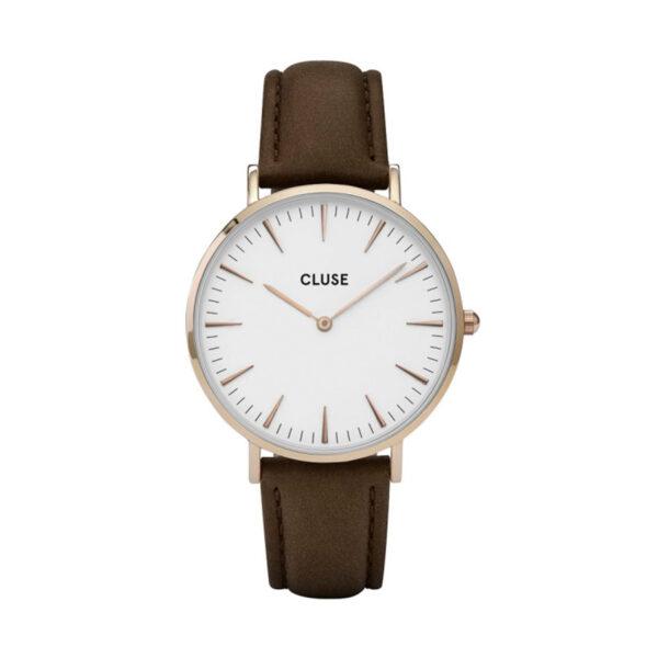 Reloj CLUSE La Boheme Mujer CL18010 Analógico rose correa piel marrón