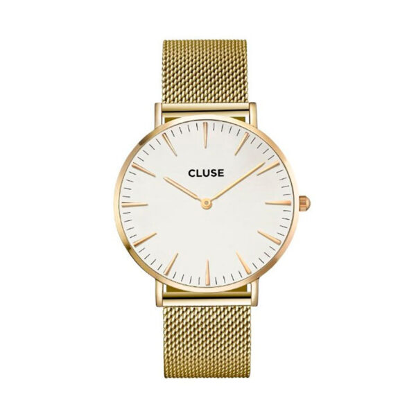 Reloj CLUSE La Boheme Mujer CL18109 Analógico acero dorado esfera blanca
