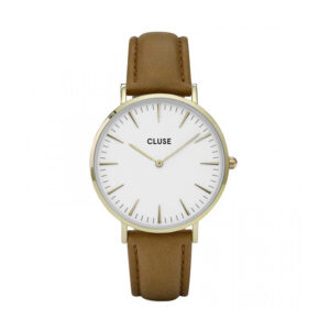 Reloj CLUSE La Boheme Mujer CL18409 Dorado con correa de piel marrón