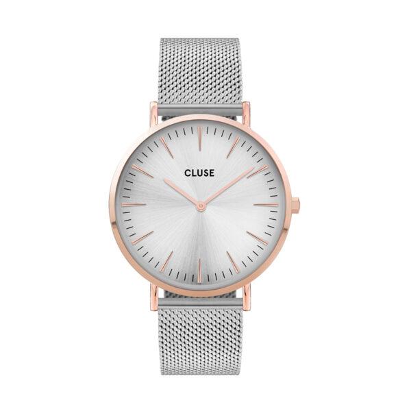 Reloj CLUSE La Boheme Mujer CW0101201006 Analógico de acero y caja de cuarzo plateado