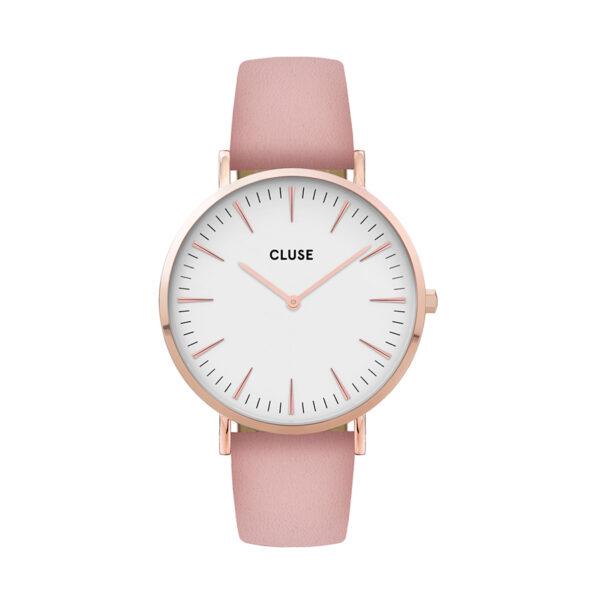 Reloj CLUSE La Boheme Mujer CW0101201012 Piel rosa esfera blanca