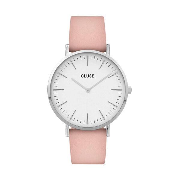 Reloj CLUSE La Boheme Mujer CW0101201019 Correa de piel nude esfera blanca