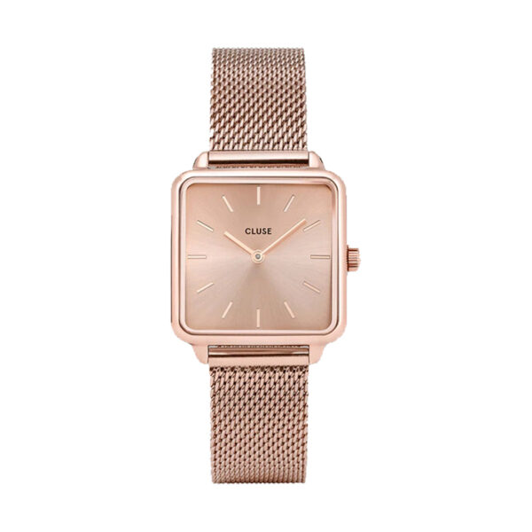 Reloj CLUSE La Tétragone Mujer CL60013 Cuarzo acero dorado rosa