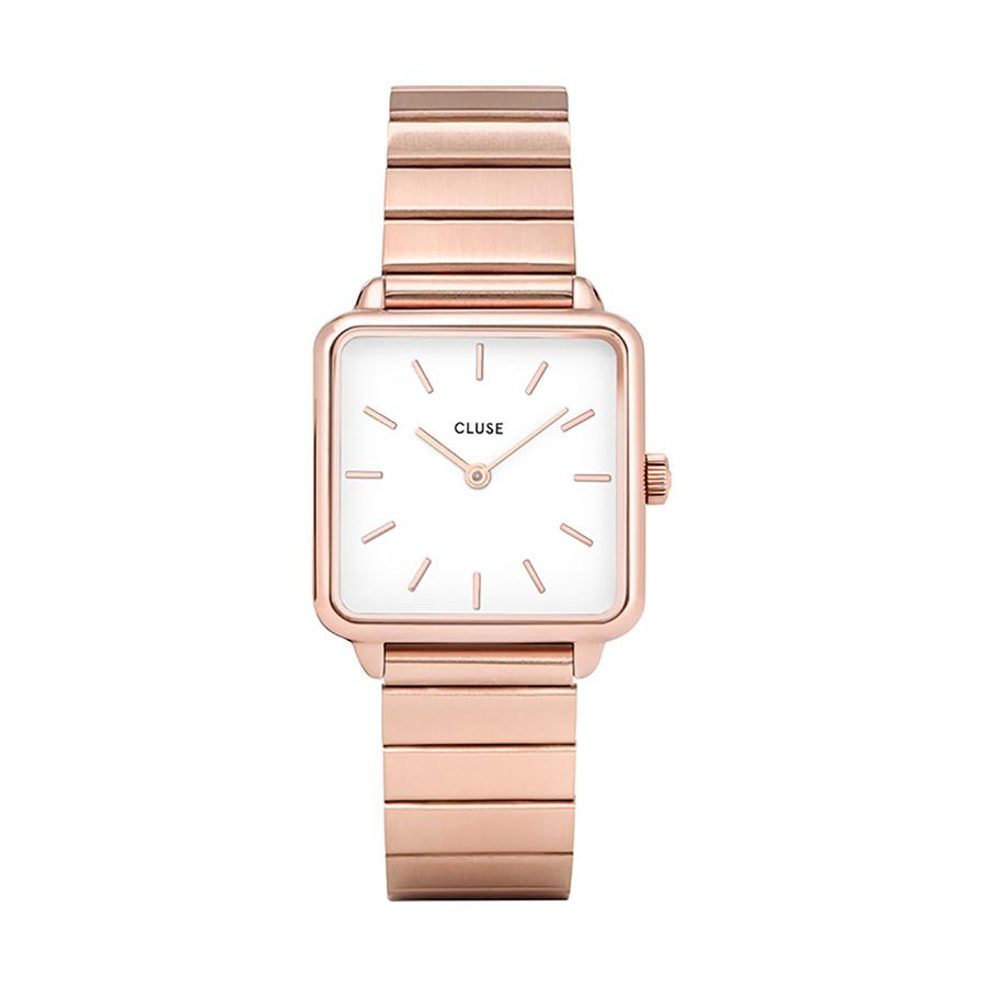 Reloj CLUSE La Tétragone Mujer CL60024S Cuadrado rose esfera blanca