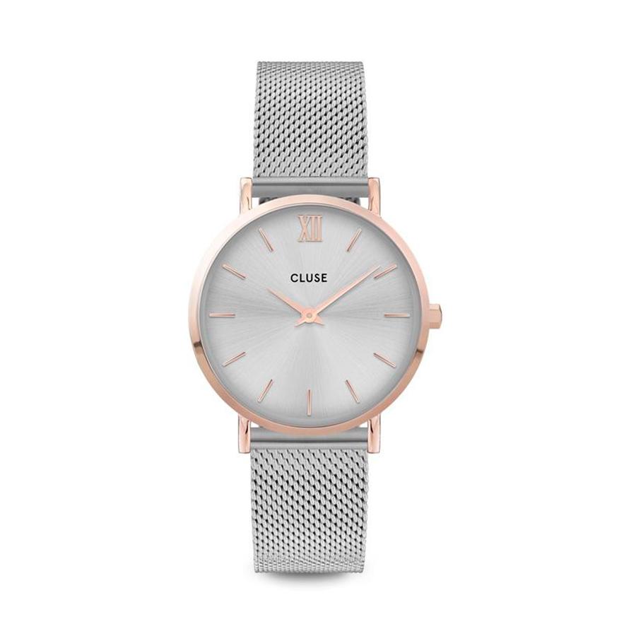 Reloj CLUSE Minuit Mesh Bicolour Mujer CW0101203004 Analógico de cuarzo acero y rose