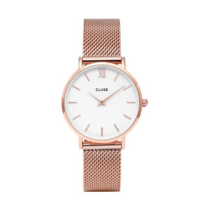 Reloj CLUSE Minuit Mujer CW0101203001 Malla rose esfera blanca