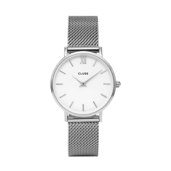 Reloj CLUSE Minuit Mujer CW0101203002 Plateado con esfera blanca