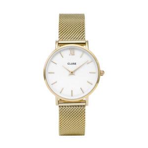 Reloj CLUSE Minuit Mujer CW0101203007 Cuarzo con correa de acero y esfera blanca