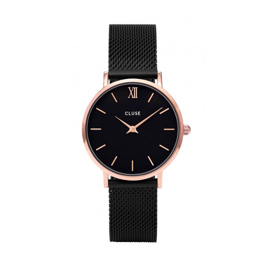 Reloj CLUSE Minuit Mujer CW0101203024 Rosado malla negra