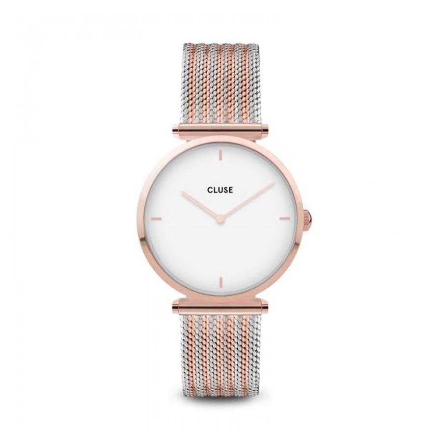 Reloj CLUSE Triomphe Mujer CW0101208001 Correa de malla bicolor rose gold