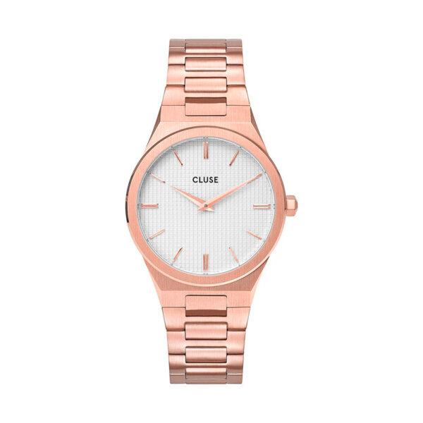 Reloj CLUSE Vigoureux Mujer CW0101210001 Acero rosa esfera blanca