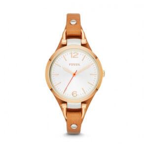 Reloj Fossil Georgia Mujer ES3565 Dorado correa de piel marrón