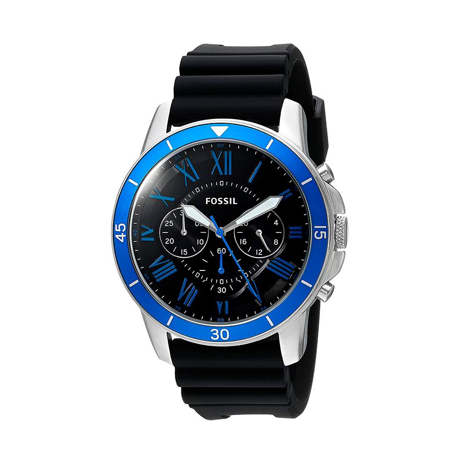 Reloj Fossil Grant Hombre FS5300 Crono correa negra