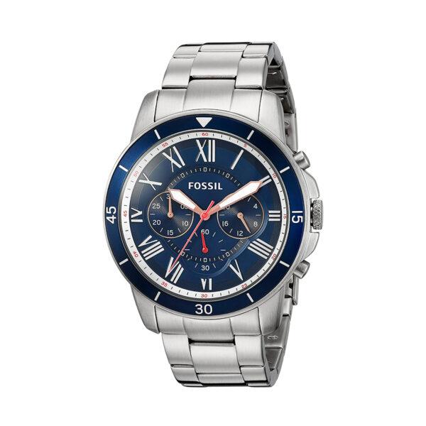 Reloj Fossil Grant sport Hombre FS5238 Acero crono esfera azul