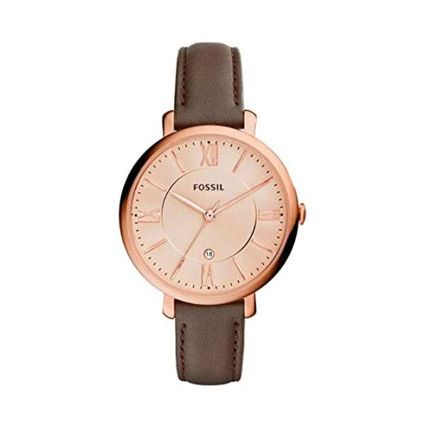 Reloj Fossil Jacqueline Mujer ES3707 Acero rosado correa de piel