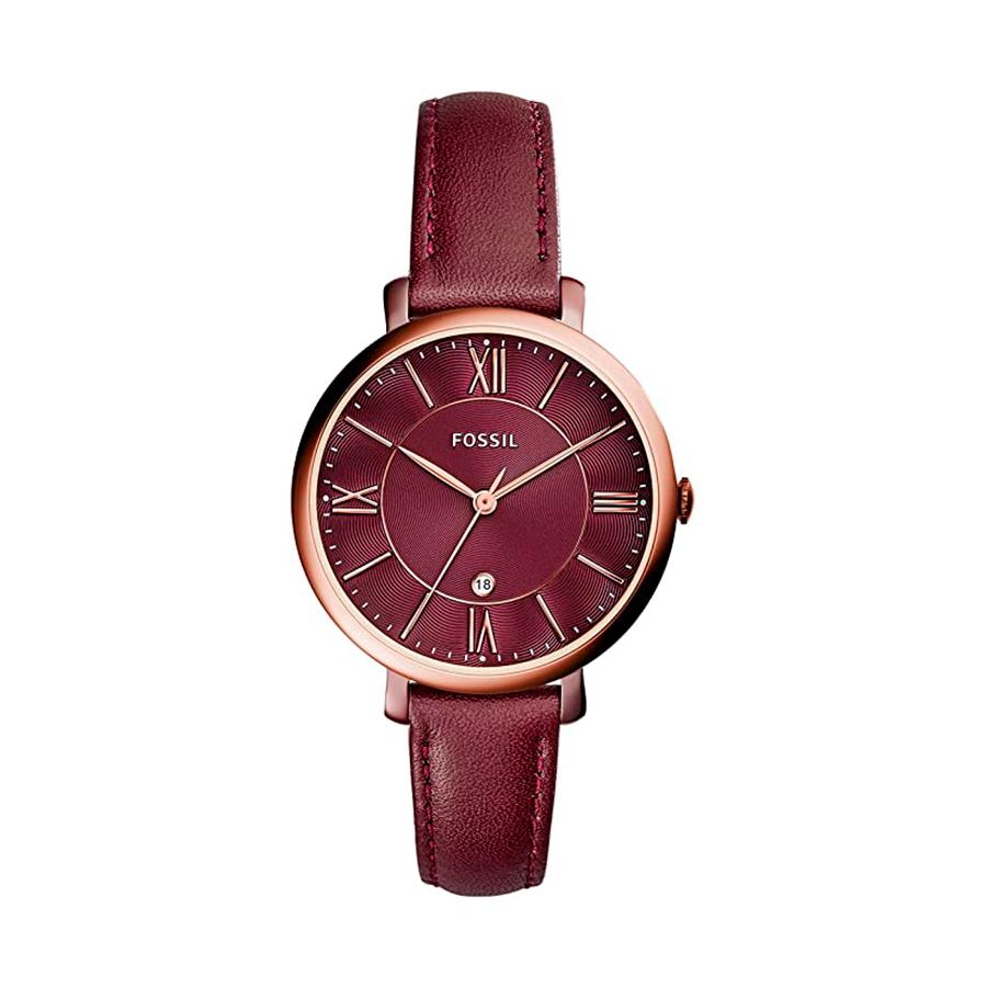 Reloj Fossil Jacqueline Mujer ES4099 Correa piel granate