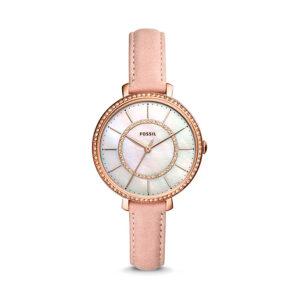 Reloj Fossil Jocelyn Mujer ES4455 Rosado correa piel beige