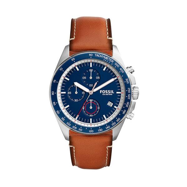 Reloj Fossil Sport 54 Hombre CH3039 Crono correa de piel marrón
