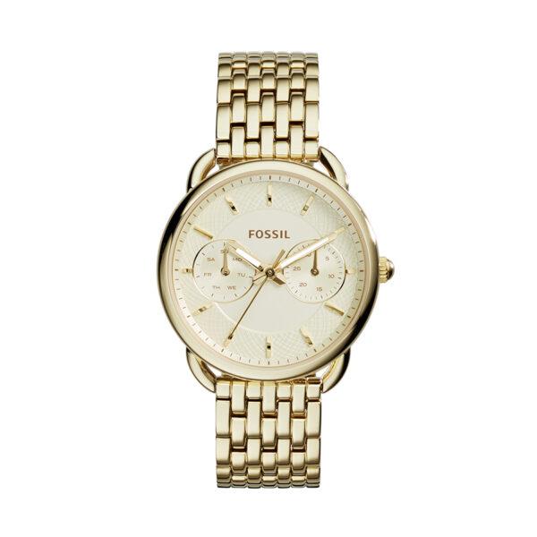 Reloj Fossil Tailor Mujer ES3714 Multifunción acero dorado