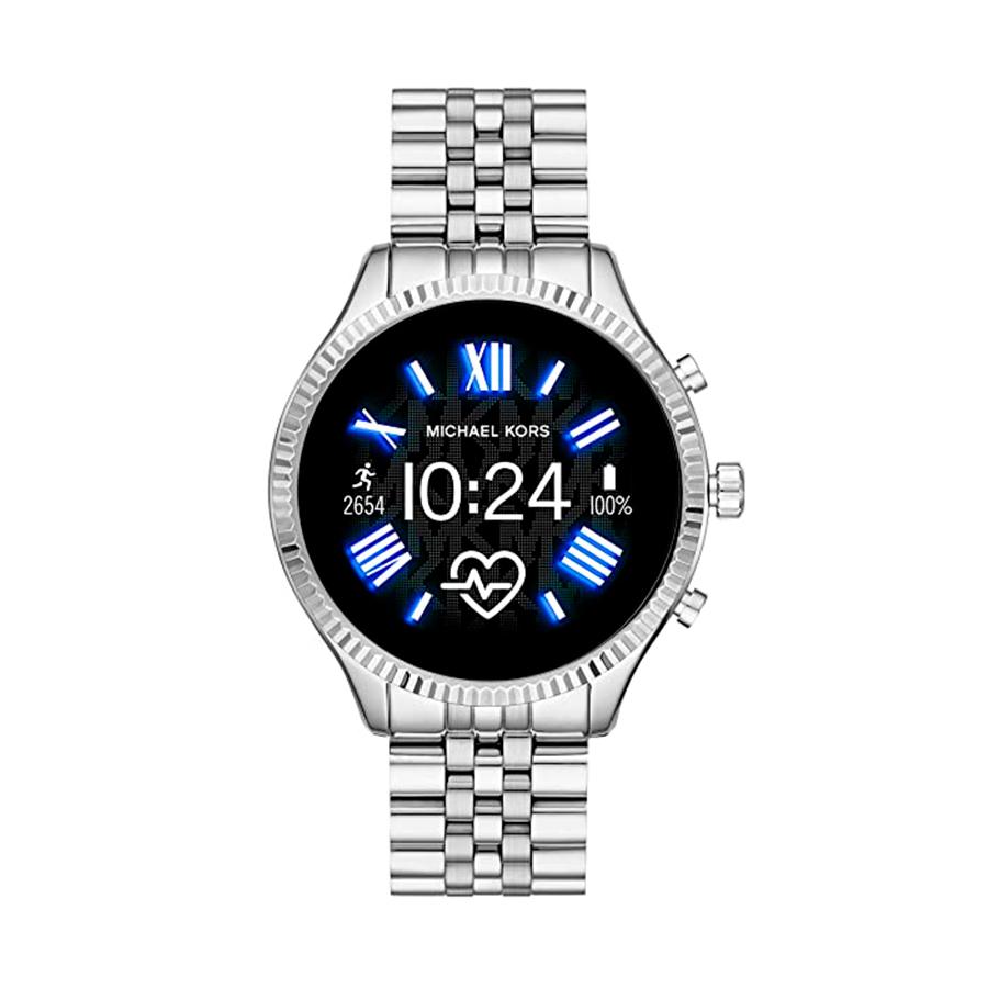 Reloj Michael Kors Access Lexington Unisex MKT5077 Acero plata con tecnología Access Smartwatch y bisel gallonado