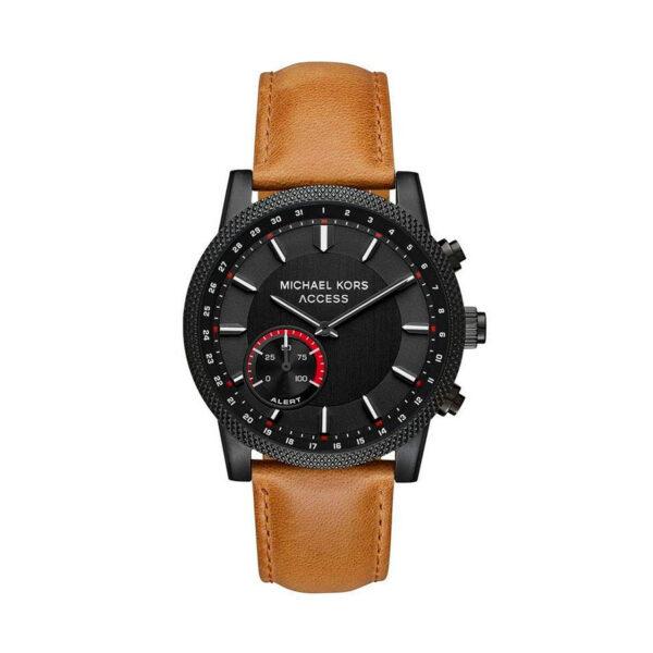 Reloj Michael Kors Access Scout Hombre MKT4026 Acero negro híbrido conexión Bluetooth con calendario y agujas neón