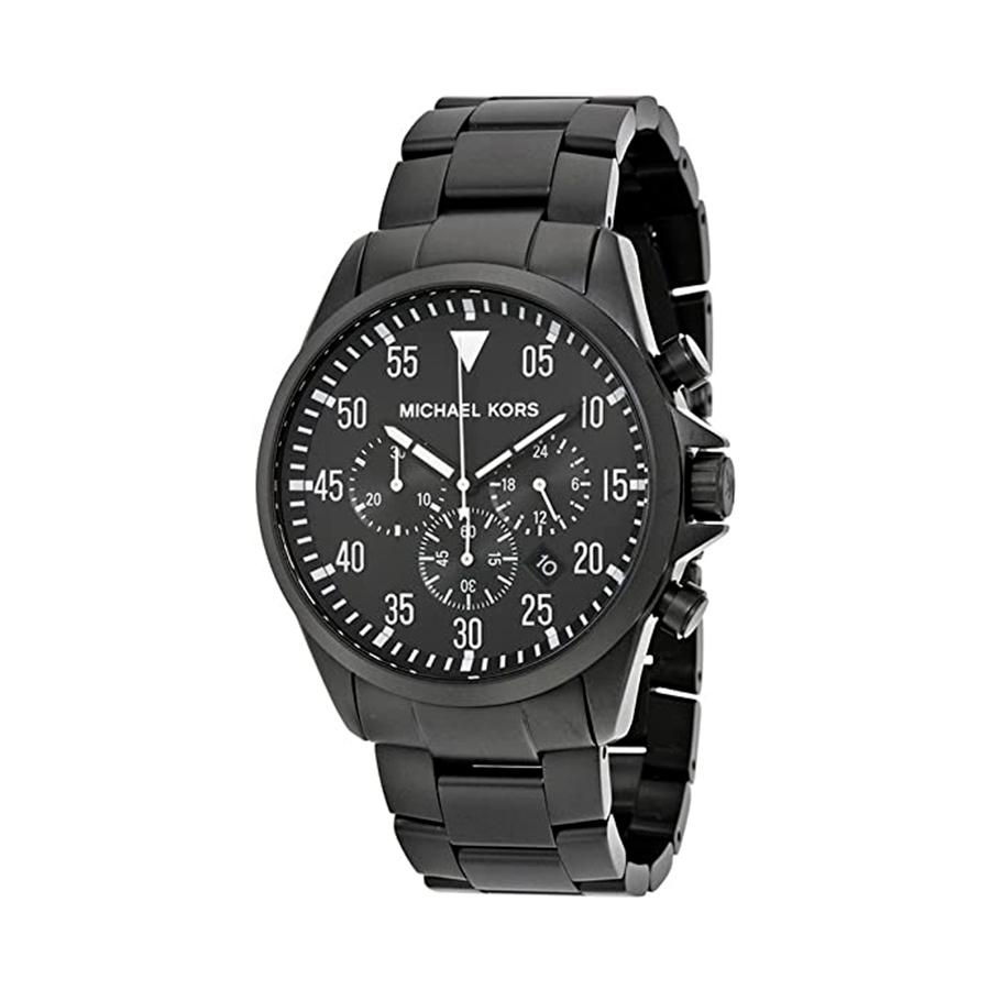 Reloj Michael Kors Gage Hombre MK8414 Acero negro multifunción con calendario