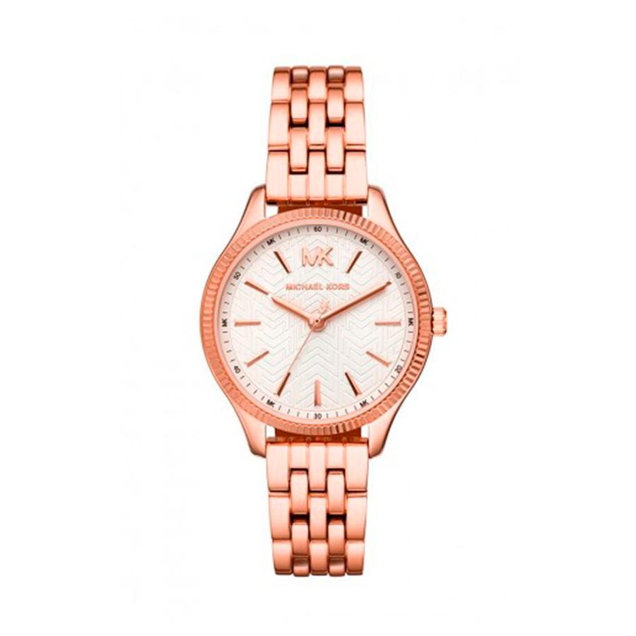 Reloj Michael Kors Lexington Mujer MK6641 Acero rosado con bisel gallonado