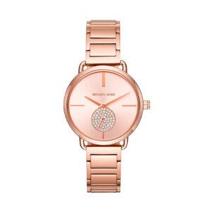 Reloj Michael Kors Portia Mujer MK3640 Acero rosado dial con segundero y decorado con glitz
