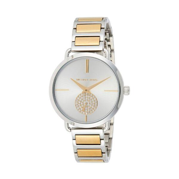 Reloj Michael Kors Portia Mujer MK3679 Acero bicolor dorado y plata con dial indicador de segundos y piedras incrustadas