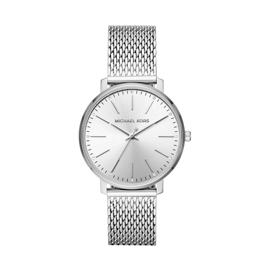 Reloj Michael Kors Pyper Mujer MK4338 Acero plata esfera decorada con piedras en cada índice y correa malla acero