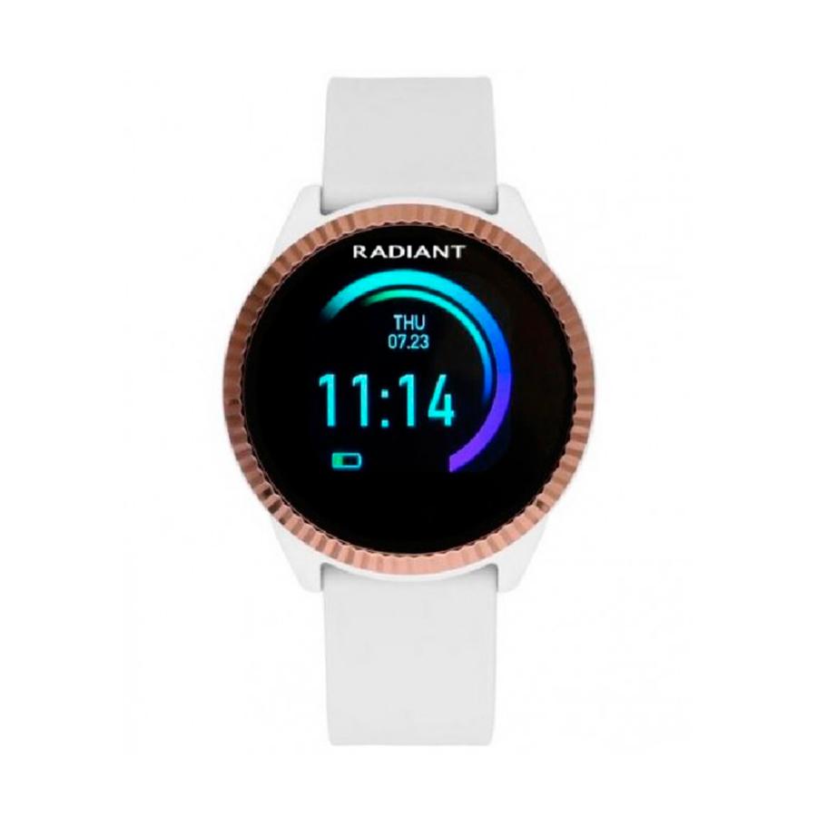 Reloj Radiant Smartwatch 5th Avenue Mujer RAS20302 Correa silicona blanca