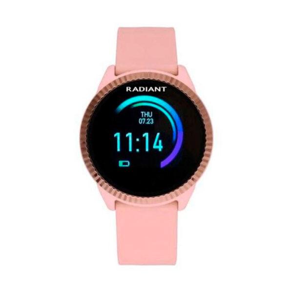 Reloj Radiant Smartwatch 5th Avenue Mujer RAS20303 Rose correa silicona rosa