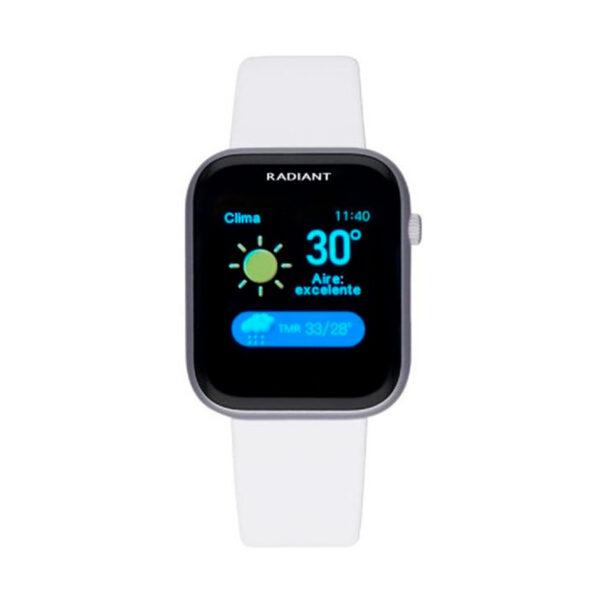 Reloj Radiant Smartwatch Manhattan Mujer RAS10102 Smartwatch silicona blanca
