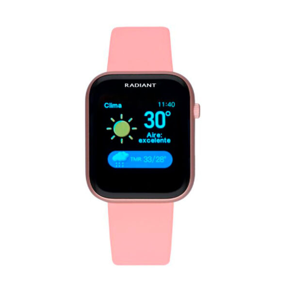 Reloj Radiant Smartwatch Manhattan Mujer RAS10103 Rectangular acero rosa