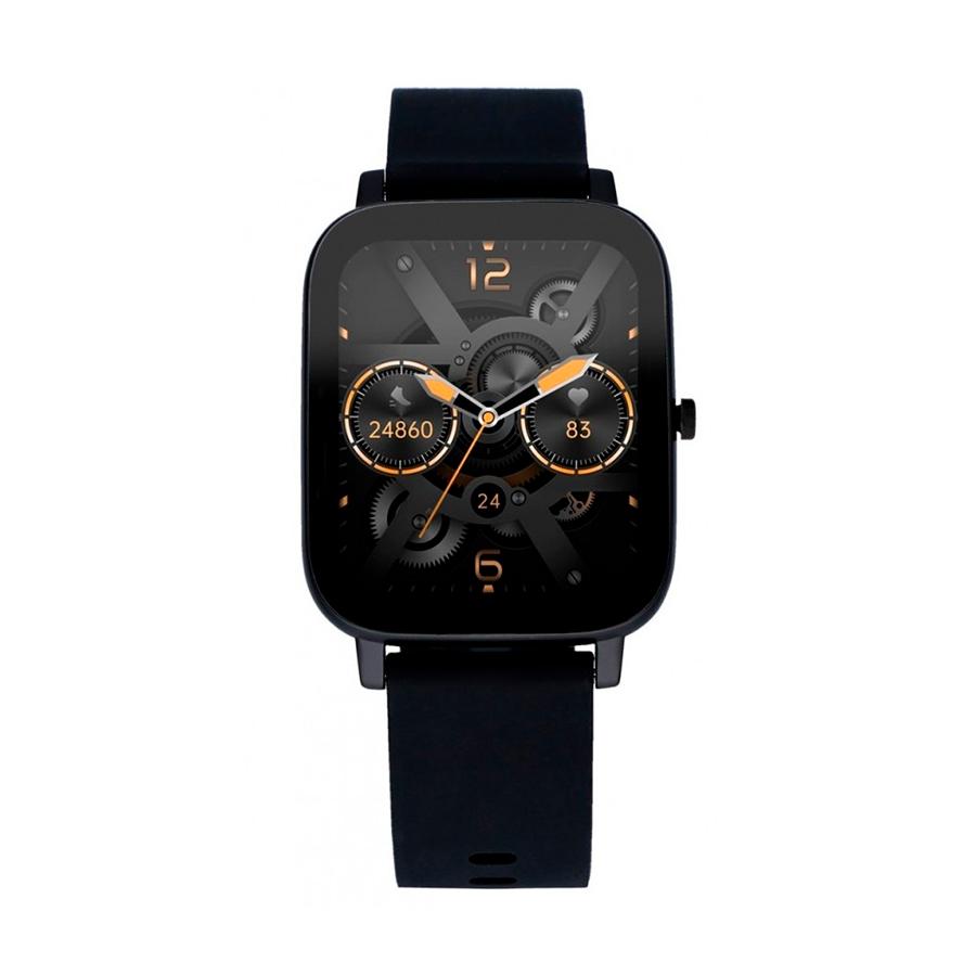 Reloj Radiant Smartwatch Palm Beach Hombre RAS10301 Cuadrado correa negra