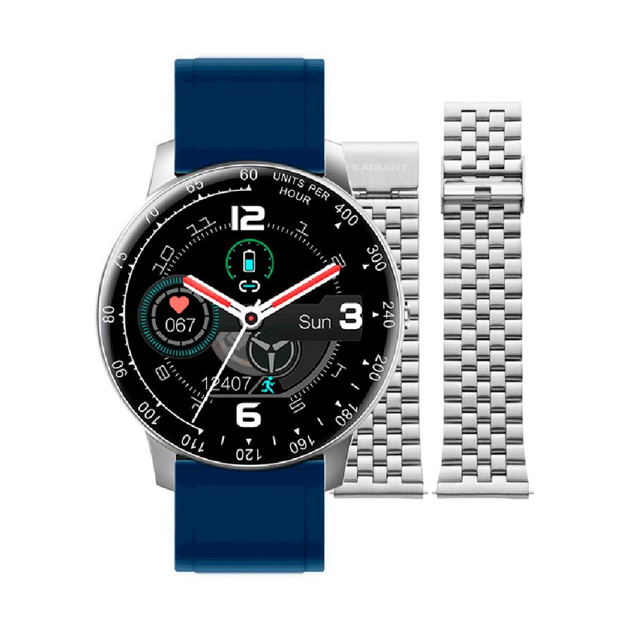 Reloj Radiant Smartwatch Times Square Unisex RAS20403 Smartwatch azul plateado