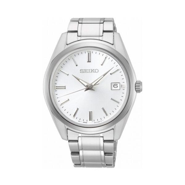 Reloj Seiko Classic Hombre SUR307P1 Acero esfera blanca con calendario