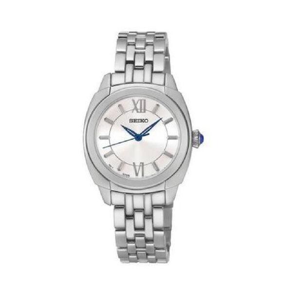 Reloj Seiko Classic Mujer SRZ425P1 Acero esfera tres agujas blanca